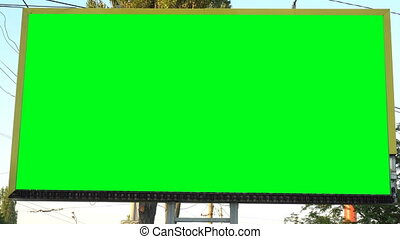 Blank billboard with green chroma key