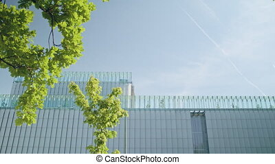 Top of a Modern Building - Top of a modern building against...