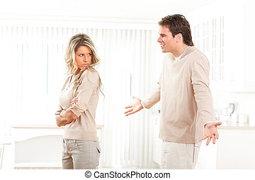 Divorce - Angry couple at home. Divorce