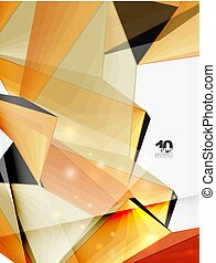 Low poly geometric 3d shape background - Low poly geometric...