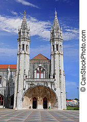 Jeronimos (Hieronymites) Monastery in Lisbon, Portugal -...
