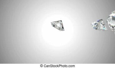 Large diamonds flow slow motion