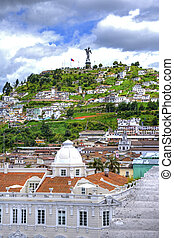 View of downtown Quito - Downtown Quito city with it's...