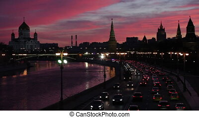 The Moscow Kremlin by the river