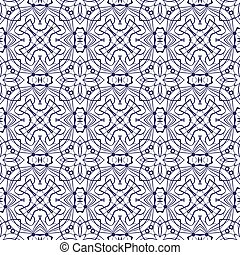 Blue lace seamless pattern