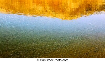 Shining sea water reflection. - Clear water background and...