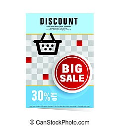 poster of discount sale illustration