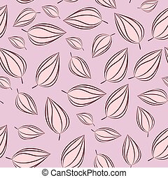 Seamless pattern background with autumn leaves. Vector illustration.