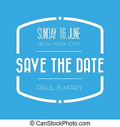 Save the date lettering vector
