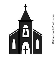 Church icon isolated on white background. Vector...