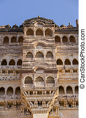Details of Jodhpur fort in Rajasthan, India. - Details of...