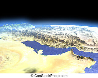 Persian Gulf from space