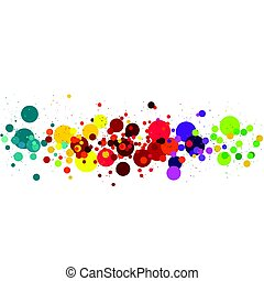 vector illustration of circle  Multicolored Background