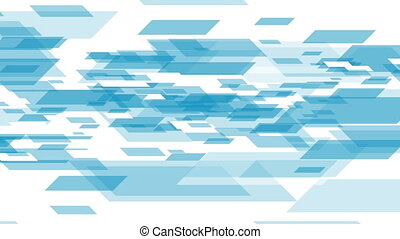 Blue white tech geometric abstract video animation - Blue...