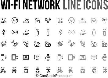 Website, netwerk, beweeglijk, wifi, Vector, Ontvankelijk,...