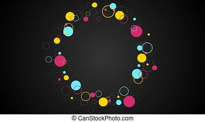 Colorful retro circles abstract hipsters video clip -...