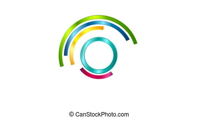 Glossy colorful loading waiting logo video animation -...