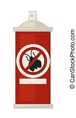 Spray against isects in red bottle isolated illustration -...