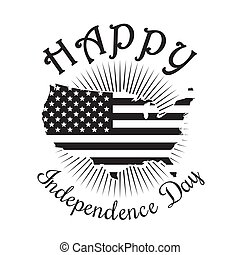 Happy Independence Day of America. 4th of July