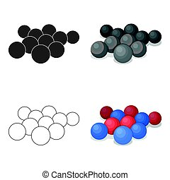 Balls for paintball.Paintball single icon in cartoon style...