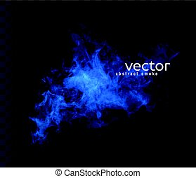 Vector illustration of smoky shape. Isolated transparent...