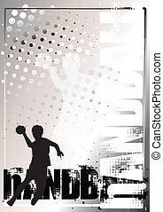 handball silver poster background - background with handball...