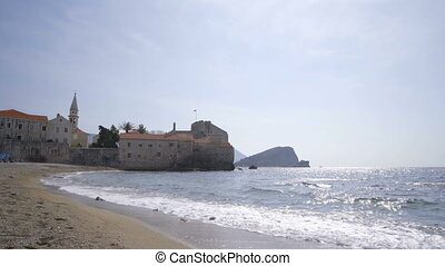 The beach of old Budva, Montenegro