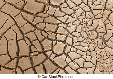 Dry cracked earth.