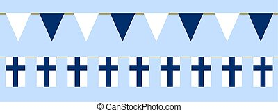 Finnish flag day - Buntings with finnish flag. Web banner...