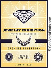 Vintage Beautiful Jewelry Exhibition Poster - Vintage...