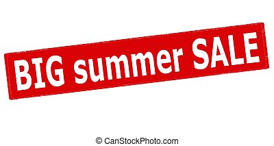 Big summer sale - Rubber stamp with text big summer sale...