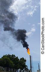 閃光, 燃燒, 當時, 碳氫化合物, 緊急事件