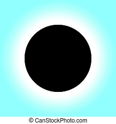 Solar Eclipse Icon Symbol
