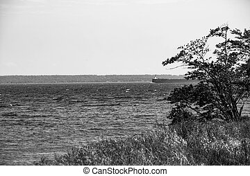 Great lakes freighter - Michigan great lakes freighter on...