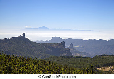 Gran Canaria, view from the highest areas, Las Cumbres,...