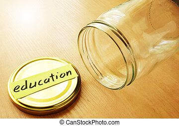 Savings for college concept.