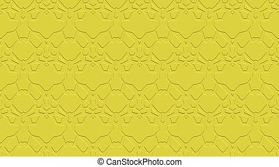 Seamless abstract background in yellow tones with scribbles