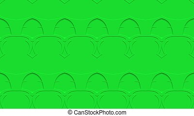 Seamless abstract background in green tones with scribbles