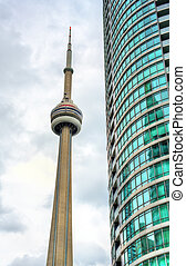 CN Tower in downtown of Toronto, Canada - CN Tower and...