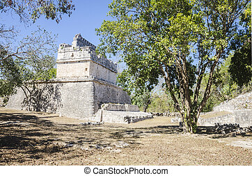 Red House at Chichen Itza - Ancient mayan building