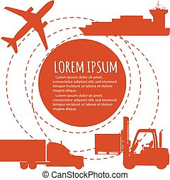 Worldwide freight shipping business company poster, global...