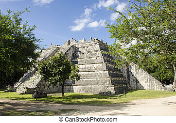 The Ossary - Mayan building at Chichen Itza, Mexico