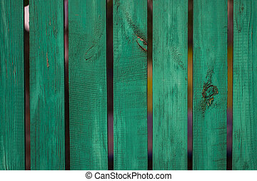 Vintage green wood panel fine arranged as wall for interior...