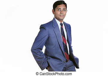 Indian Businessman - An handsome Indian businessman smiling...
