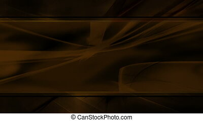 Filled frame in brown abstract looping animated flowing CG backdrop