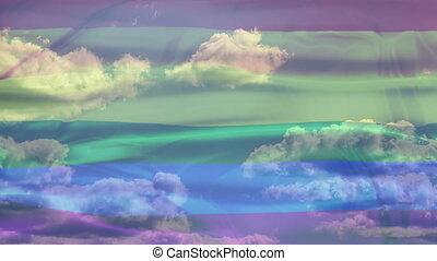 Rainbow Sky Flag