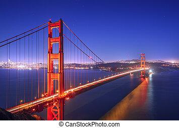 Golden Gate, San Francisco California at night