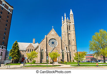 St. Peter's Episcopal Church at Niagara Falls, New York -...