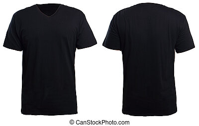 Black V-Neck Shirt Mock up - Blank v-neck shirt mock up...
