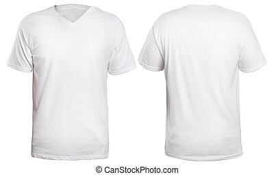White V-Neck Shirt Mock up - Blank v-neck shirt mock up...